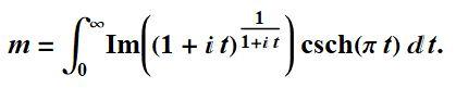 M=integral
