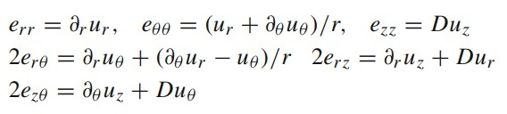 Strain-Displacement relationships