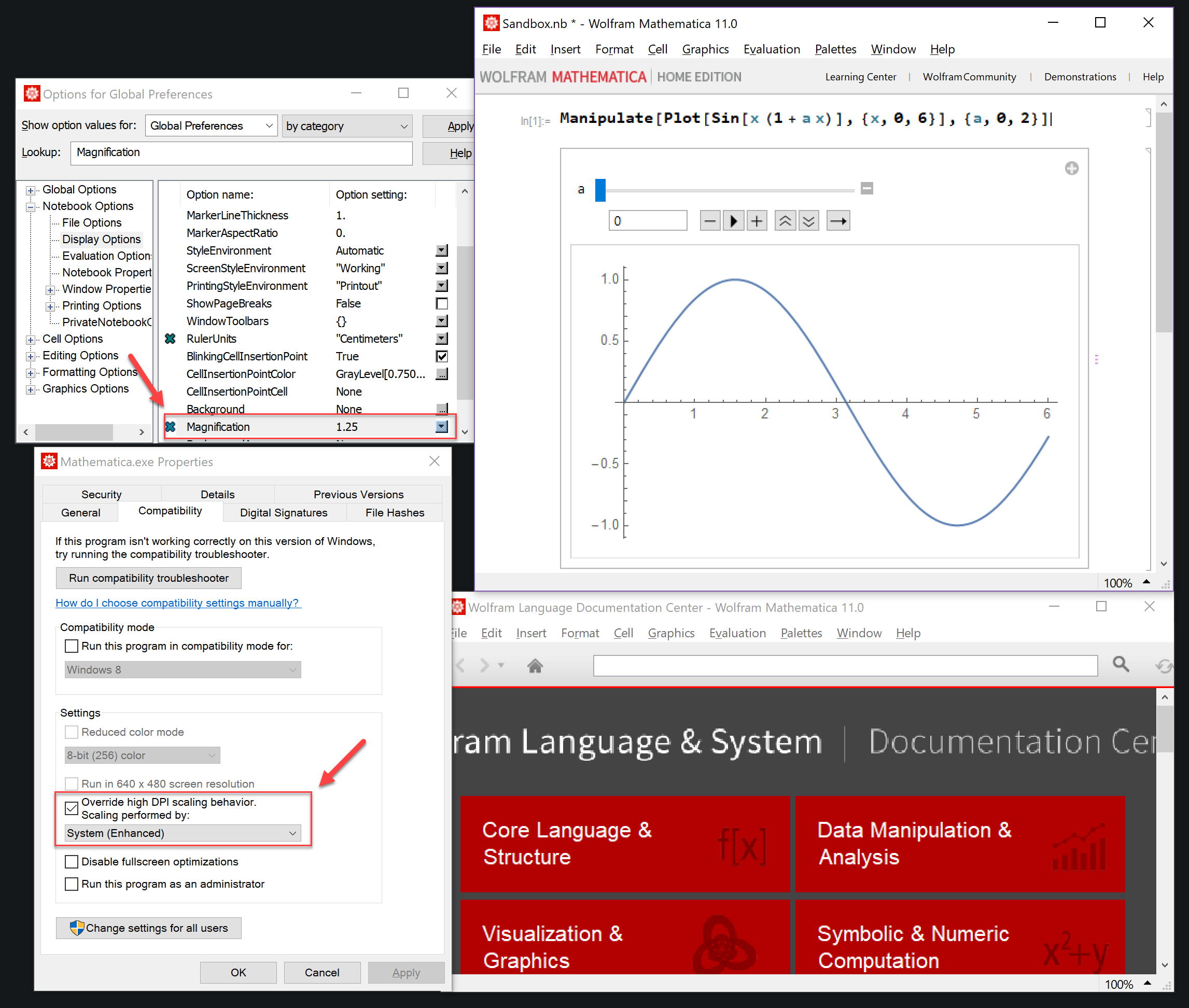 Make Mathematica's interface less blurry? - Online Technical