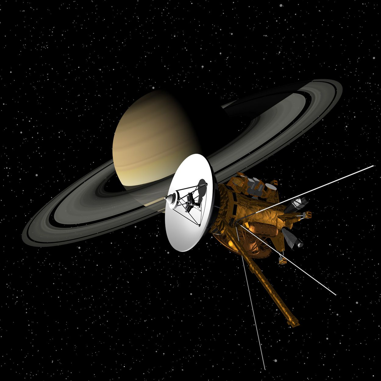 Cassini-Huygens Probe (Artist Interpretation)