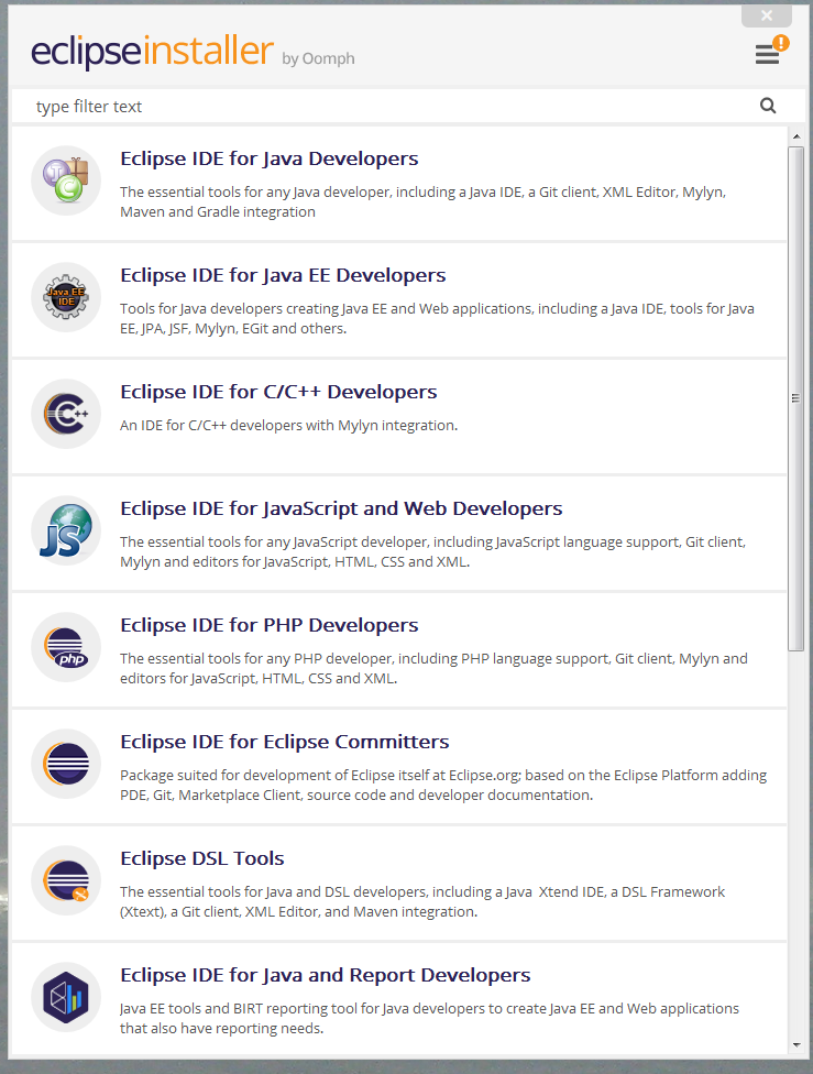 Which Eclipse should be installed for Workbench? - Online