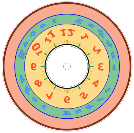 anamorphic clock