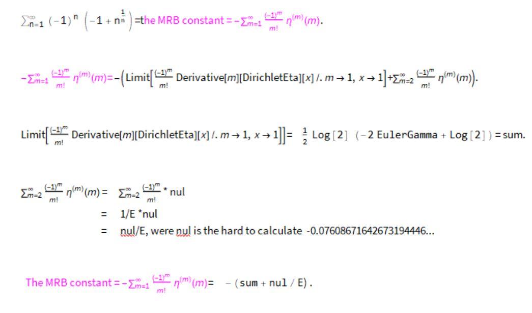 MRB sum table
