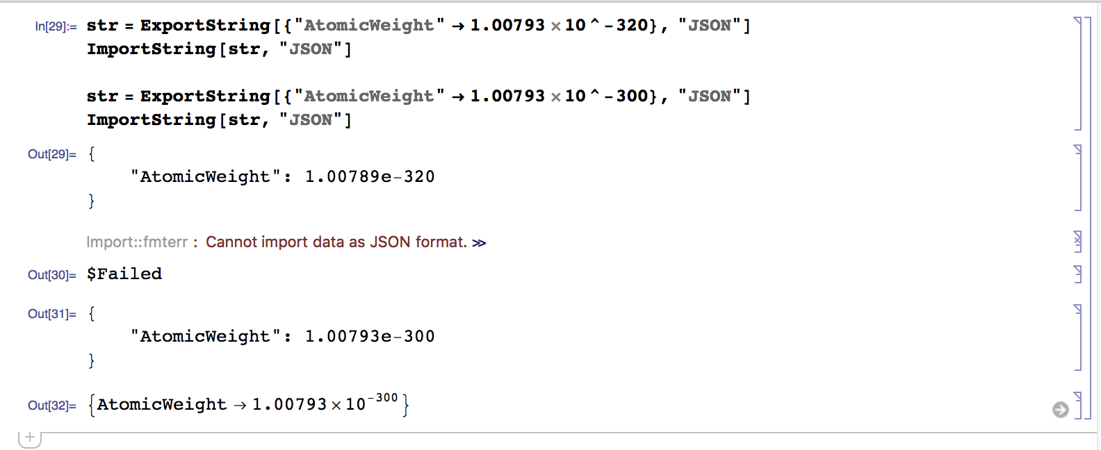 Import scientific notation with 3 digits in JSON? - Online