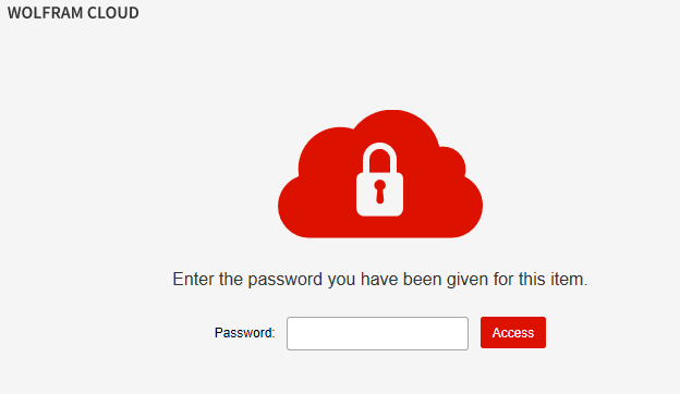 password entry page