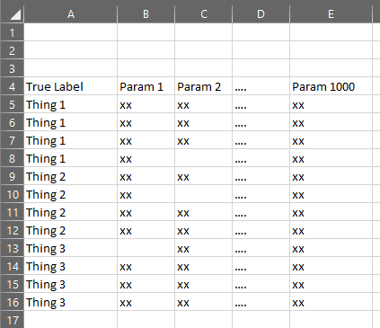 Input Data Format in Excel