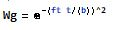 gaussian window function