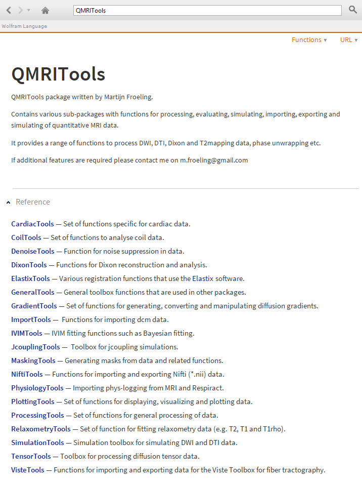 QMRITools: processing and visualization tools for