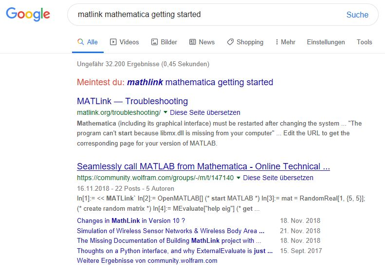 second proof that MATLink existed