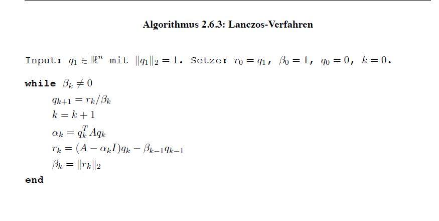 Lanczos Algorithmus