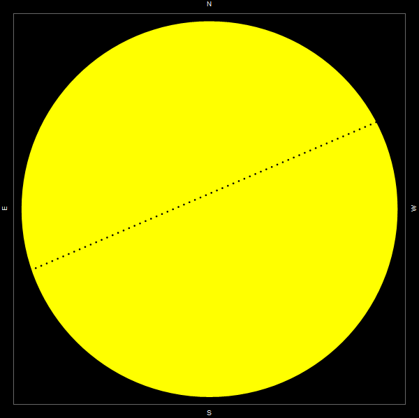 Mercury transiting across the face of the Sun in November 2019