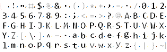 Example output for character rasters