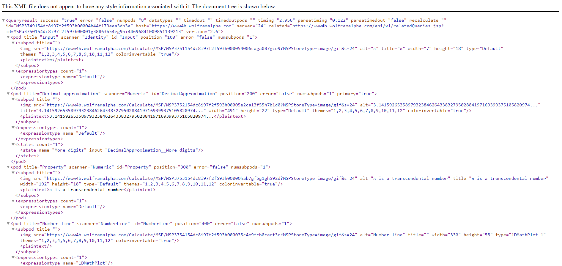 XML Response woth no styling information
