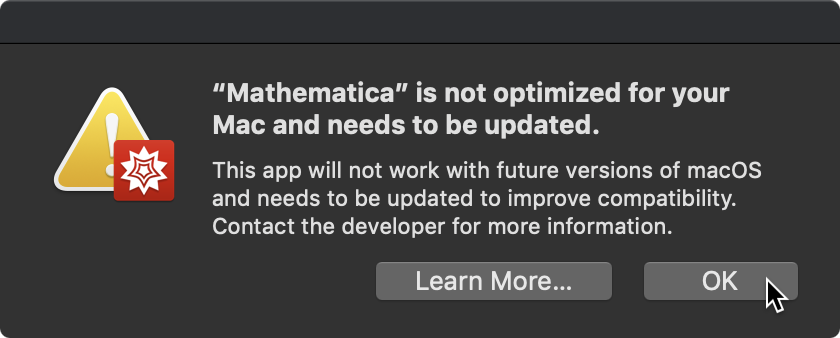 Is Mathematica 11 compatible with Mac OS Mojave - Online Technical