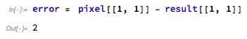error in pixel[1, 1] screenshot