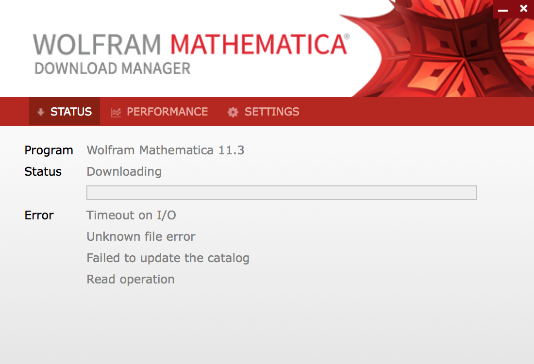Mathematica download manager do not start on windows 7, home edition