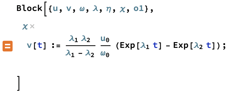 example of what happens when I try to assign a value to chi