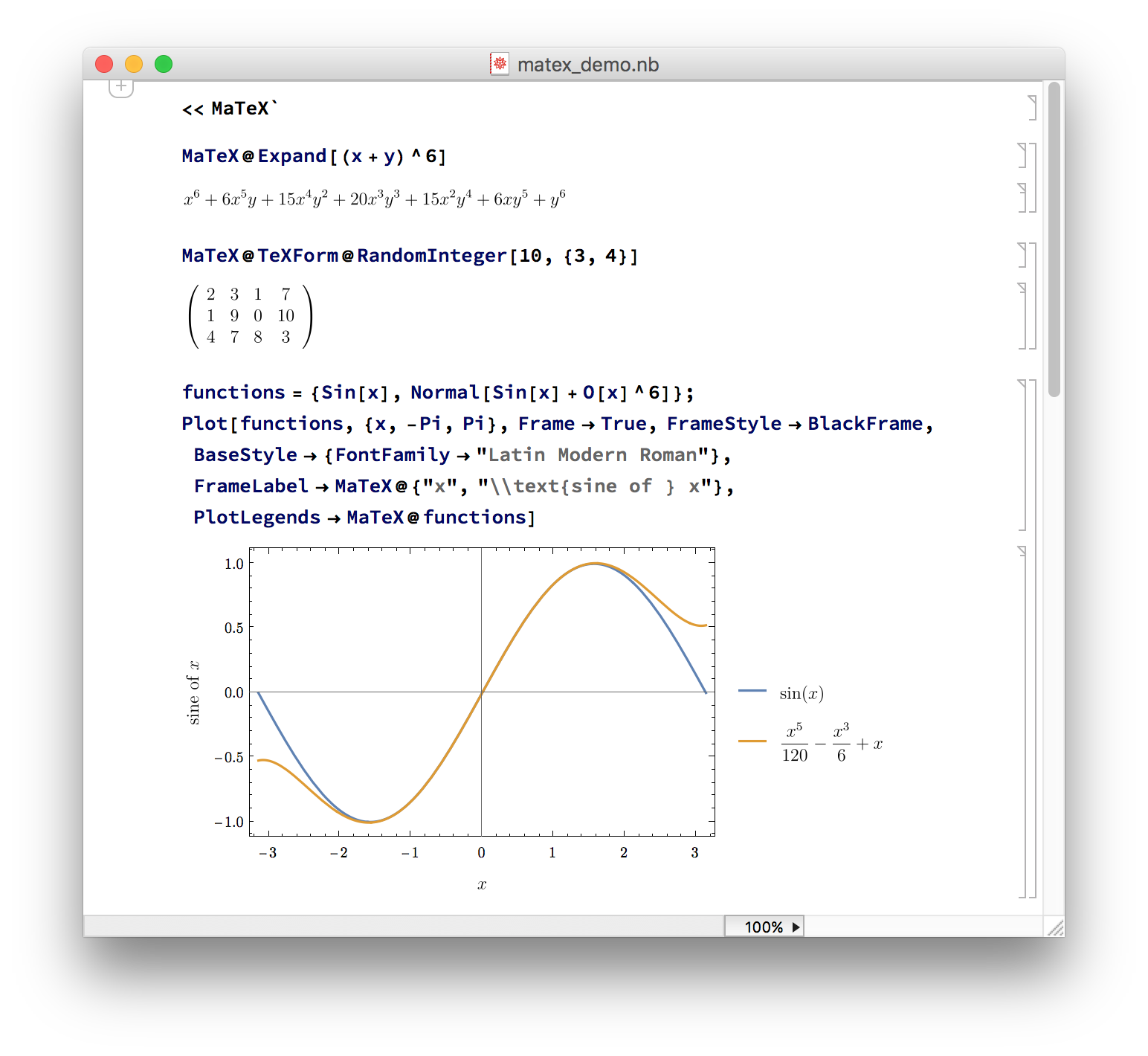 LaTeX typesetting in Mathematica - Online Technical