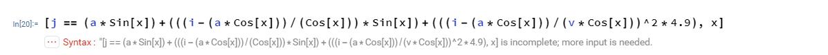 equation in mathematica