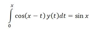 my volterra equation