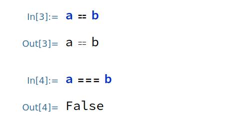 Equal Symbolic vs SameQ Boolean