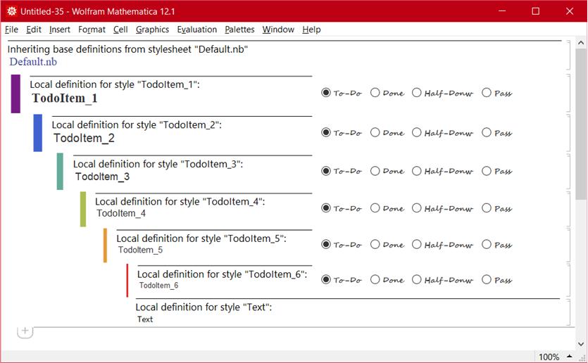 TODO - md - stylesheet example