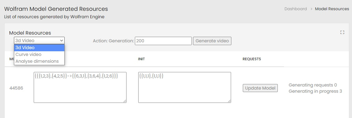3d Video generation options