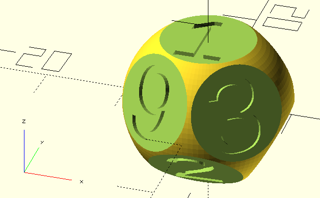 9-sided dice