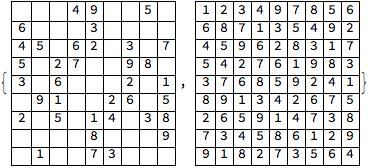 Solving Sudoku as an integer programming problem - Online