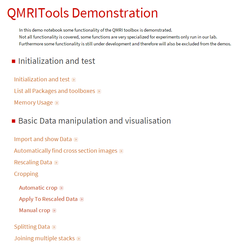 QMRITools demonstration