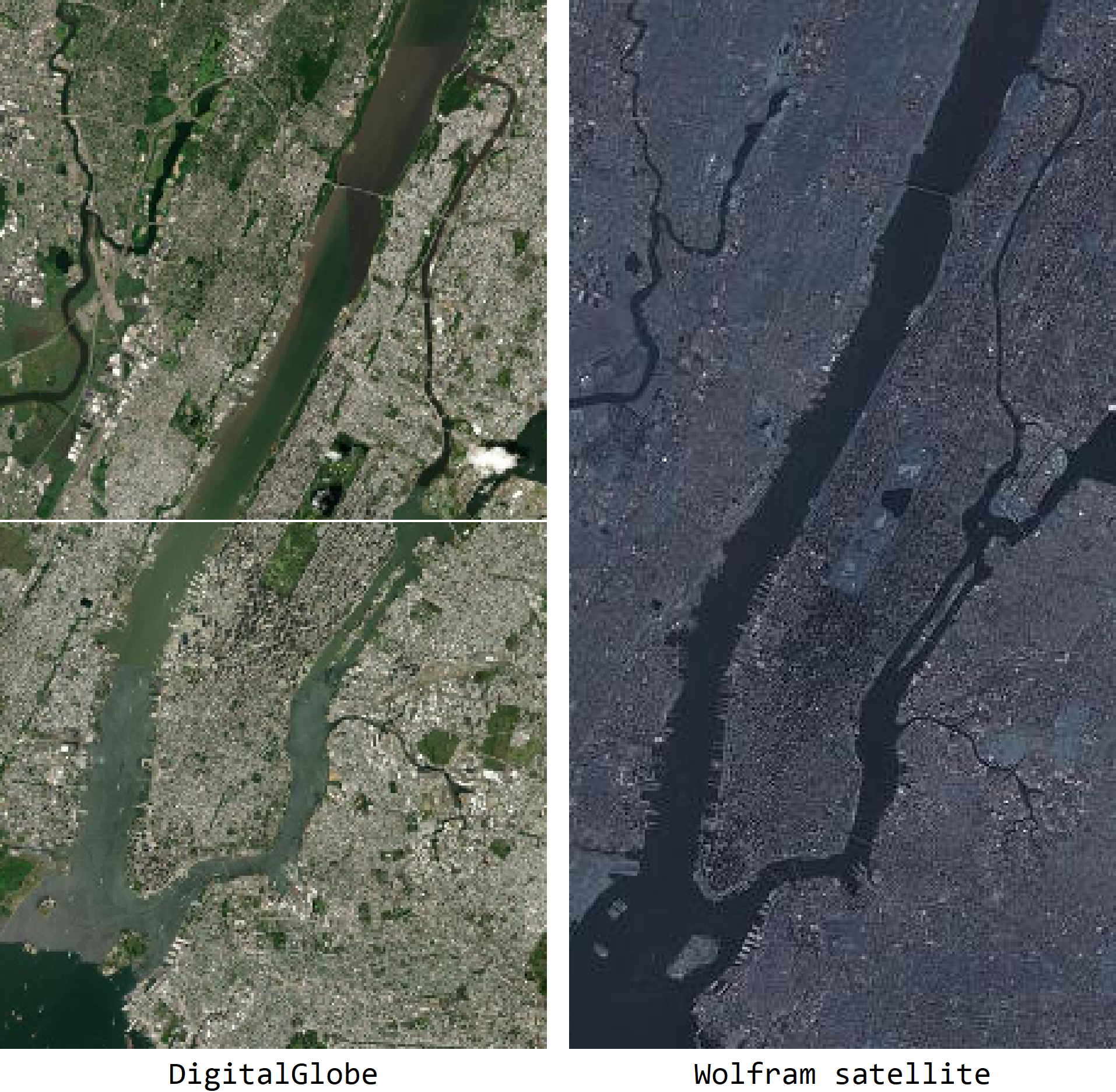Satellite image comparison