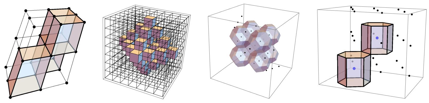 Examples of 3D Lattices and CA on them