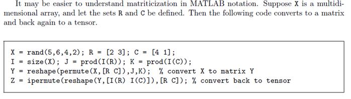 matlab code from Kolda(2006)