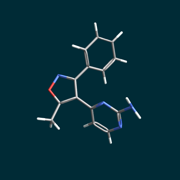 stick model displayed with MoleculeViewer