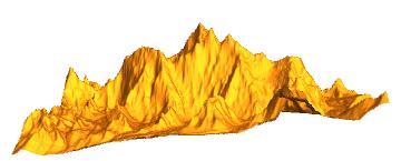 3D plot of Mount Everest