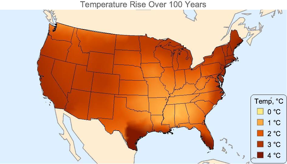Interpolated Temperature Rise