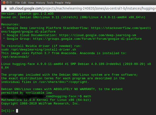 Mathematica running