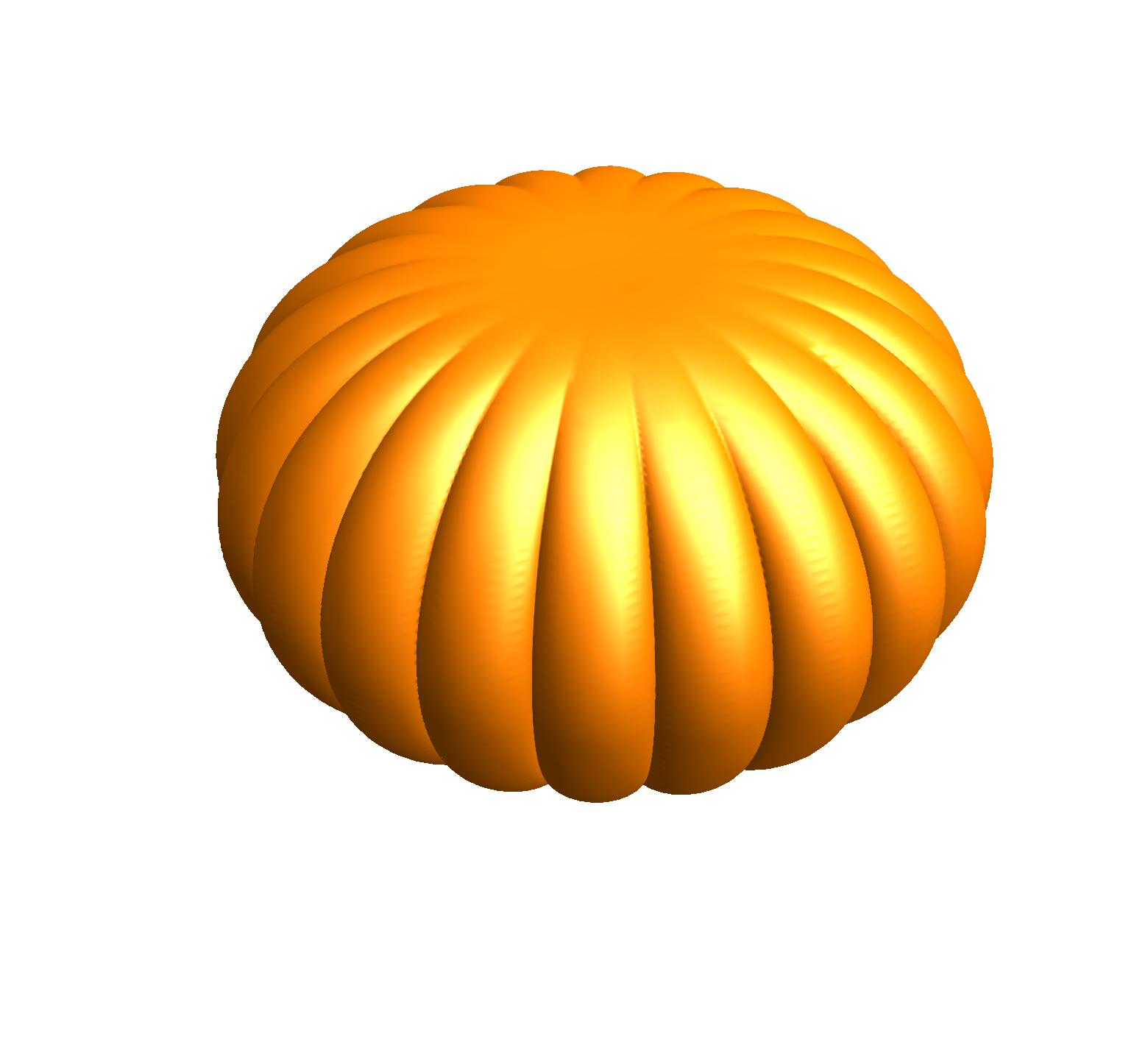 pumpkin-like surface