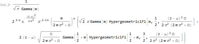 Sum of normal and Nakagami random variables
