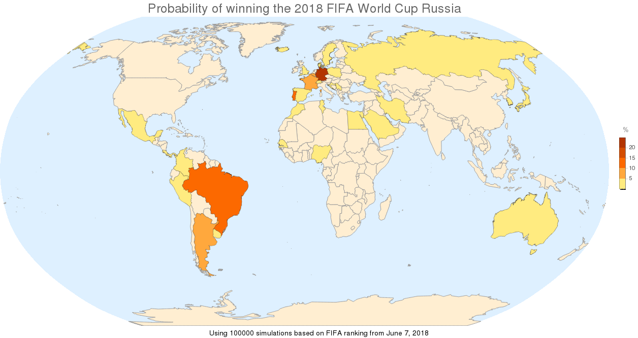 2018 FIFA World Cup Football / Soccer Simulation - Online