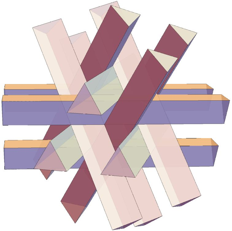 twelve prisms