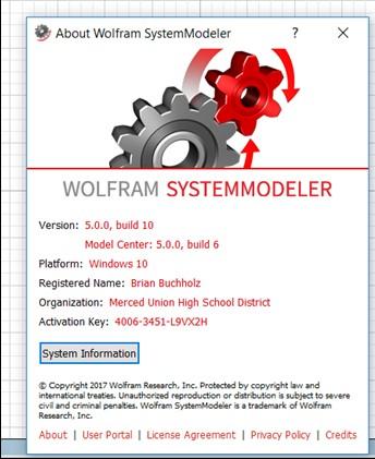System Modeler Version