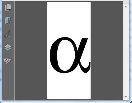 Export in version 10 is not compatible with Symbol font