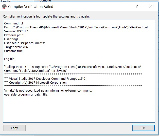 SysModeler Compiler Error