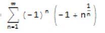 Sum[(-1)^n*(n^(1/n) - 1), {n, 1, Infinity}]