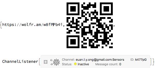 Output - a QR code