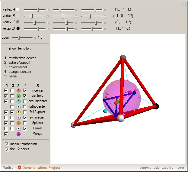 Tetrahedron Centers