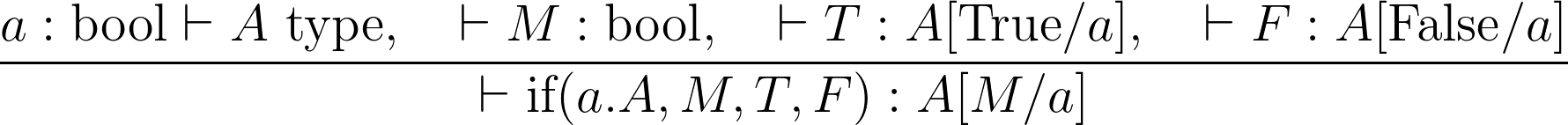 The basic typing rule for the dependent if function