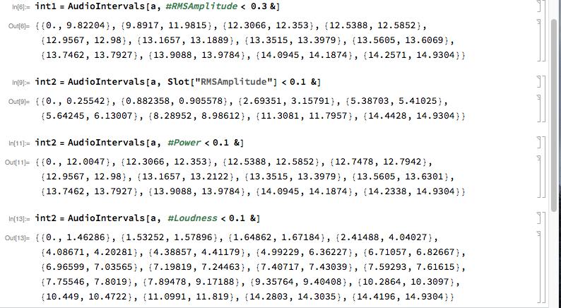 screen shot of tests