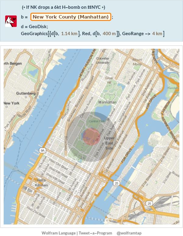 6 kiloton bomb in Manhattan